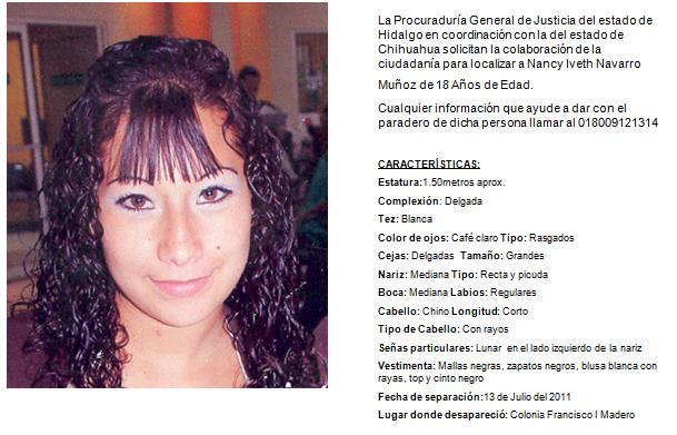 direccion de personas desaparecidas: