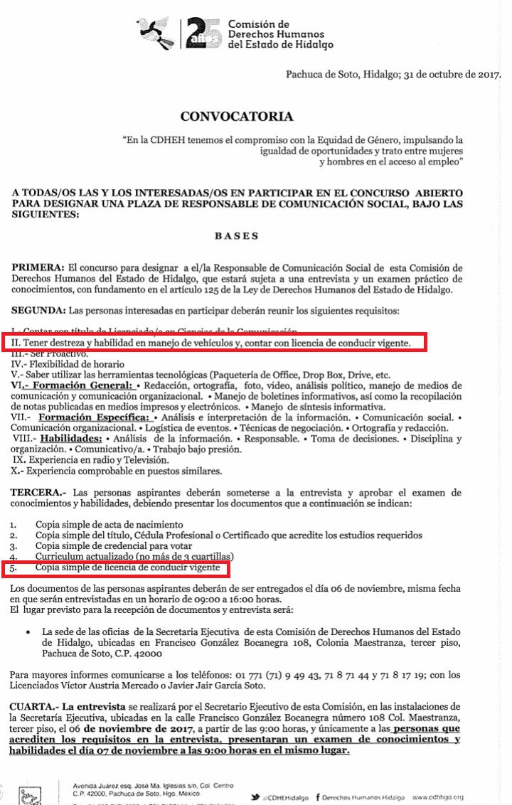 Comisión de Derechos Humanos del Estado de Hidalgo | RADAR POLÍTICO